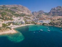 Costa de mar Mediterráneo Foto de archivo libre de regalías