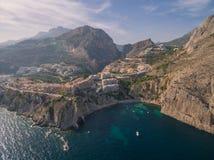 Costa de mar Mediterráneo Imágenes de archivo libres de regalías