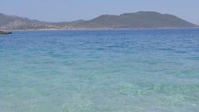Costa de mar Mediterrâneo em Turquia video estoque