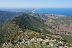 Costa de mar Pyrenees da montanha da paisagem França Fotos de Stock