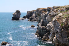 Costa de mar rochosa Imagens de Stock