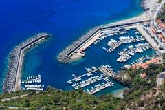 Costa de mar Tyrrhenian perto de Maratea, Itália Imagens de Stock Royalty Free