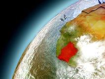Costa de Marfil de la órbita de Earth modelo Imágenes de archivo libres de regalías
