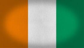 Costa De Marfil flaga obrazy stock