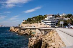 Costa de Marselha Foto de Stock Royalty Free