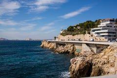Costa de Marsella fotografía de archivo