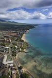 Costa de Maui con los edificios. imagen de archivo libre de regalías