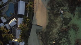 Costa de Mauricio, visión aérea almacen de video