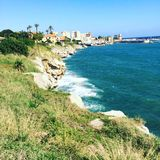 Costa de Mondello (Sicília) Foto de Stock