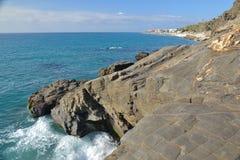 Costa de Nerja imagen de archivo libre de regalías
