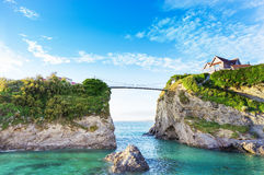 Costa de Newquay Oceano Atlântico, Cornualha, Inglaterra Imagem de Stock Royalty Free