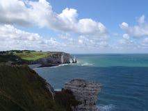 Costa de Normandía Imagenes de archivo