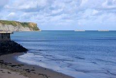 Costa de Normandía, Francia en un día de verano Imagen de archivo libre de regalías