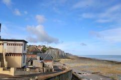Costa de Normandy fotografia de stock