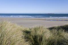 Costa de Northumberland Fotos de Stock Royalty Free