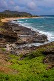 Costa de Oahu imagem de stock