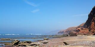 Costa de Océano Atlántico Foto de archivo libre de regalías