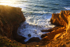 Costa de Oceano Atlântico Fotografia de Stock