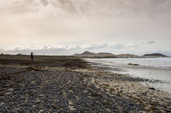 A costa de Oceano Atlântico Foto de Stock