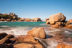 Costa de Oceano Atlântico em Brittany Imagens de Stock Royalty Free