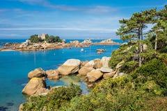 Costa de Oceano Atlântico em Brittany Foto de Stock Royalty Free