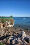 Costa de Oceano Atlântico em Cascais Fotos de Stock