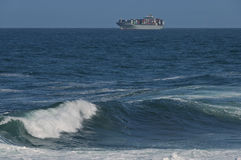 Costa de Oceano Atlântico por Cape Town foto de stock