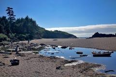 Costa de Oregon - ciudad de Lincoln imagen de archivo libre de regalías