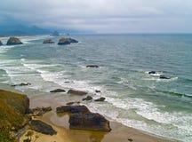 Costa de Oregon do parque de estado de Ecola fotos de stock royalty free