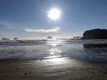 Costa de Oregon de la playa fotos de archivo libres de regalías