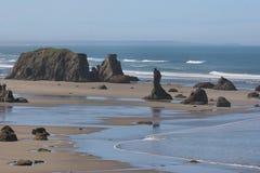 Costa de Oregon na maré baixa fotografia de stock