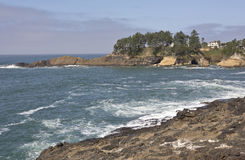 Costa de Oregon perto de Lincoln City Oregon Fotos de Stock