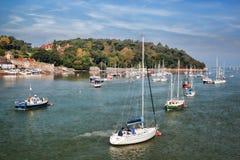 Costa de País de Gales con la bahía de Conwy en Reino Unido Foto de archivo