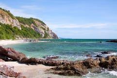 Costa de pedra do mar Fotografia de Stock
