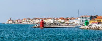 Costa de Piran Fotografía de archivo