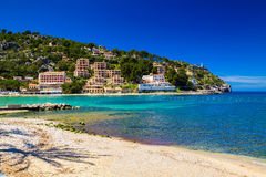 A costa de Porto de Soller Fotos de Stock Royalty Free