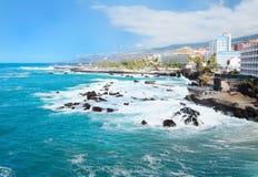 Costa de Puerto de la Cruz Foto de Stock Royalty Free