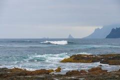 Costa de Punta del Fidalgo tenerife Fotos de Stock Royalty Free