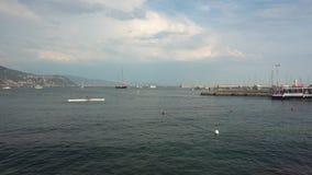 Costa de Rapallo en verano almacen de video