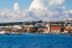Costa de Rhodes Greece fotografia de stock