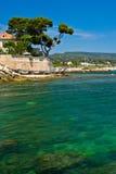 Costa de riviera francesa Foto de archivo libre de regalías
