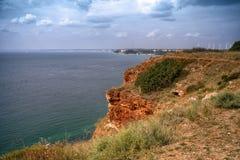 Costa de Rocky Black Sea en el cabo Kaliakra, Bulgaria imágenes de archivo libres de regalías