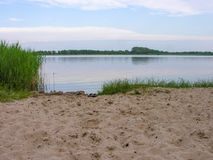 Costa de Sandy de um lago pequeno Foto de Stock Royalty Free