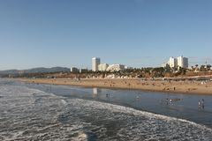 Costa de Santa Monica Foto de Stock Royalty Free