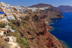 Costa de Santorini Oia Imagenes de archivo