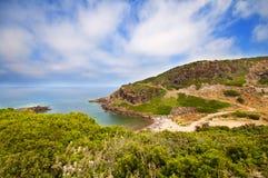 Costa de Sardinia, de mar, de areia e de rochas Fotografia de Stock Royalty Free