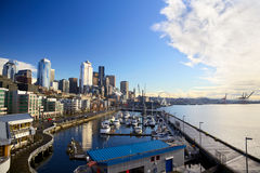 Costa de Seattle Foto de archivo libre de regalías