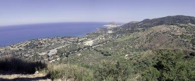 Costa de Sicilia cerca de Palermo, Italia Fotos de archivo