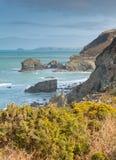 Costa de St Agnes Cornwall England Reino Unido Fotos de Stock Royalty Free