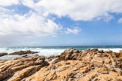 Costa de St Francis do cabo na rota do jardim, África do Sul fotografia de stock